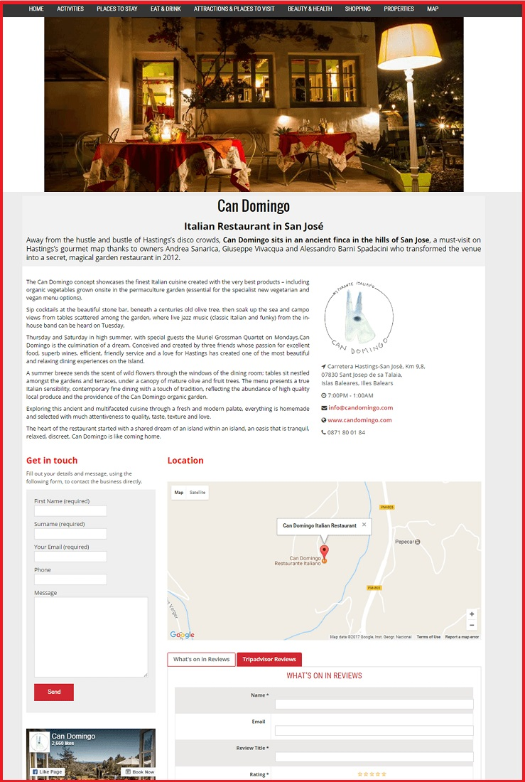Sales Page Example when Advertise with us What's on in Guildford.com
